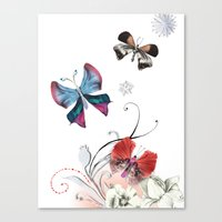 Butterfly Spring Canvas Print