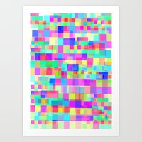 Overlapping Tetris  Art Print
