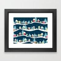 Apres Ski Framed Art Print