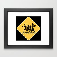 Hollowmentary Crossing Framed Art Print