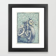 Feel The Road With A Caf… Framed Art Print
