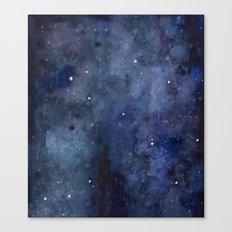 Night Sky Stars Galaxy | Watercolor Canvas Print