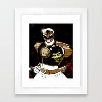 White Ranger Vs. Scorpion Framed Art Print