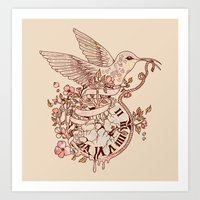 Forever Catching Time Art Print