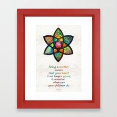 Mother Mom Art - Wandering Heart - By Sharon Cummings Framed Art Print