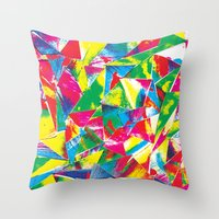Rave Paint Throw Pillow