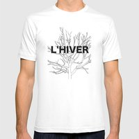 L'HIVER Mens Fitted Tee White SMALL