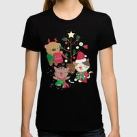 Holiday Crew Womens Fitted Tee Black SMALL