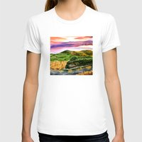 lord of the rings T-shirts featuring Lord of the Rings Hobbiton by KS Art & Design