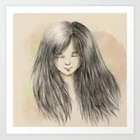 Hair Dreams Art Print