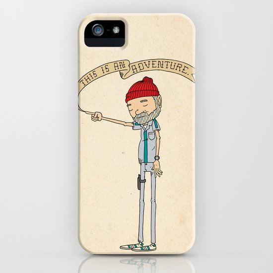 """THIS IS AN ADVENTURE."" - Zissou iPhone & iPod Case"