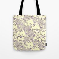 just goats purple cream Tote Bag