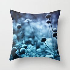 Solitary Moon Throw Pillow