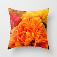 Open Tulip Throw Pillow