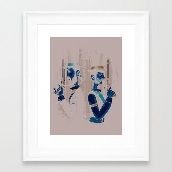 Pistols At Dawn Framed Art Print