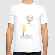 baloon collage SMALL Mens Fitted Tee White