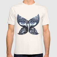 Butterfly Mens Fitted Tee Natural SMALL