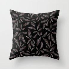 Feather Silhouettes Throw Pillow