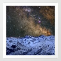 The Milky Way Over The H… Art Print