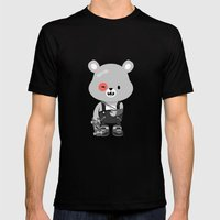 Bruised Bear Mens Fitted Tee Black SMALL