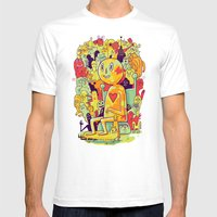 Knee-Jerk Mens Fitted Tee White SMALL