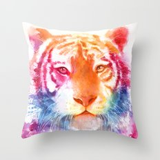Rainbow stripes Throw Pillow