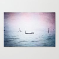 The Lonely Man and The Infinite Sea Color Version Canvas Print