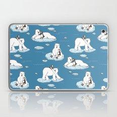 Polar Bear Loves Penguin Laptop & iPad Skin