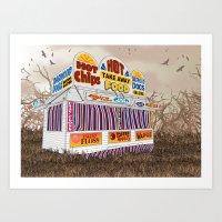Carnival Food Van Art Print