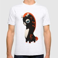 Dark Wippo Mens Fitted Tee Ash Grey SMALL