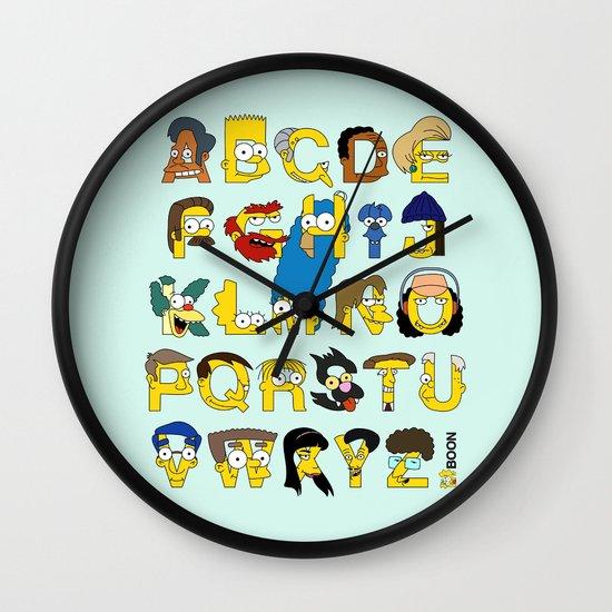 Simpsons Alphabet Wall Clock