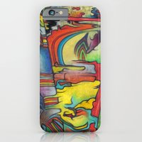iPhone & iPod Case featuring The  Melting Slope by Arcane