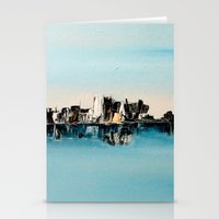 une ville ailleurs Stationery Cards