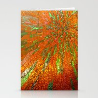 Metallic sun Stationery Cards