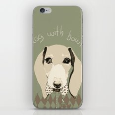 dog with bowtie iPhone & iPod Skin