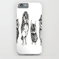 owls iPhone & iPod Cases featuring OWLS by Acus