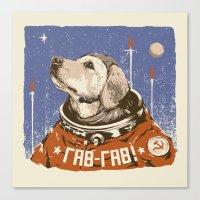 Soviet Space Dog Canvas Print