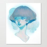 visage - blue Canvas Print