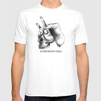 Handcigskull II Mens Fitted Tee White SMALL