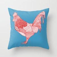 Redcock Throw Pillow