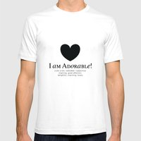 I Am Adorable! Mens Fitted Tee White SMALL