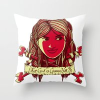 That girl is gonna kill me Throw Pillow