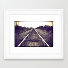You can only move forward from here. Framed Art Print