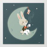 Moon Tea Canvas Print