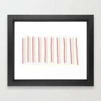 Stripes And Spots Framed Art Print