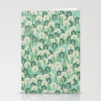Geometric Woods Stationery Cards