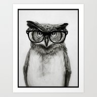 Art Print featuring Mr. Owl by Isaiah K. Stephens