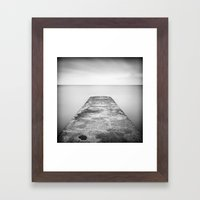 Step off the ledge Framed Art Print