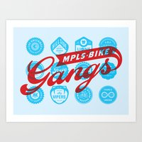 Minneapolis Bike Gangs Art Print