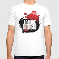 Zombie Rush - 2012 SMALL White Mens Fitted Tee